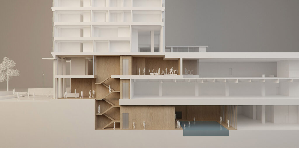 ArchitecturalModel_Section_Gym