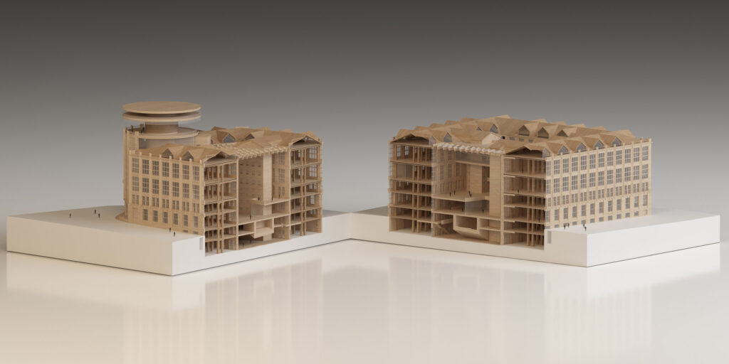 ArchitecturalModel_Section_Office